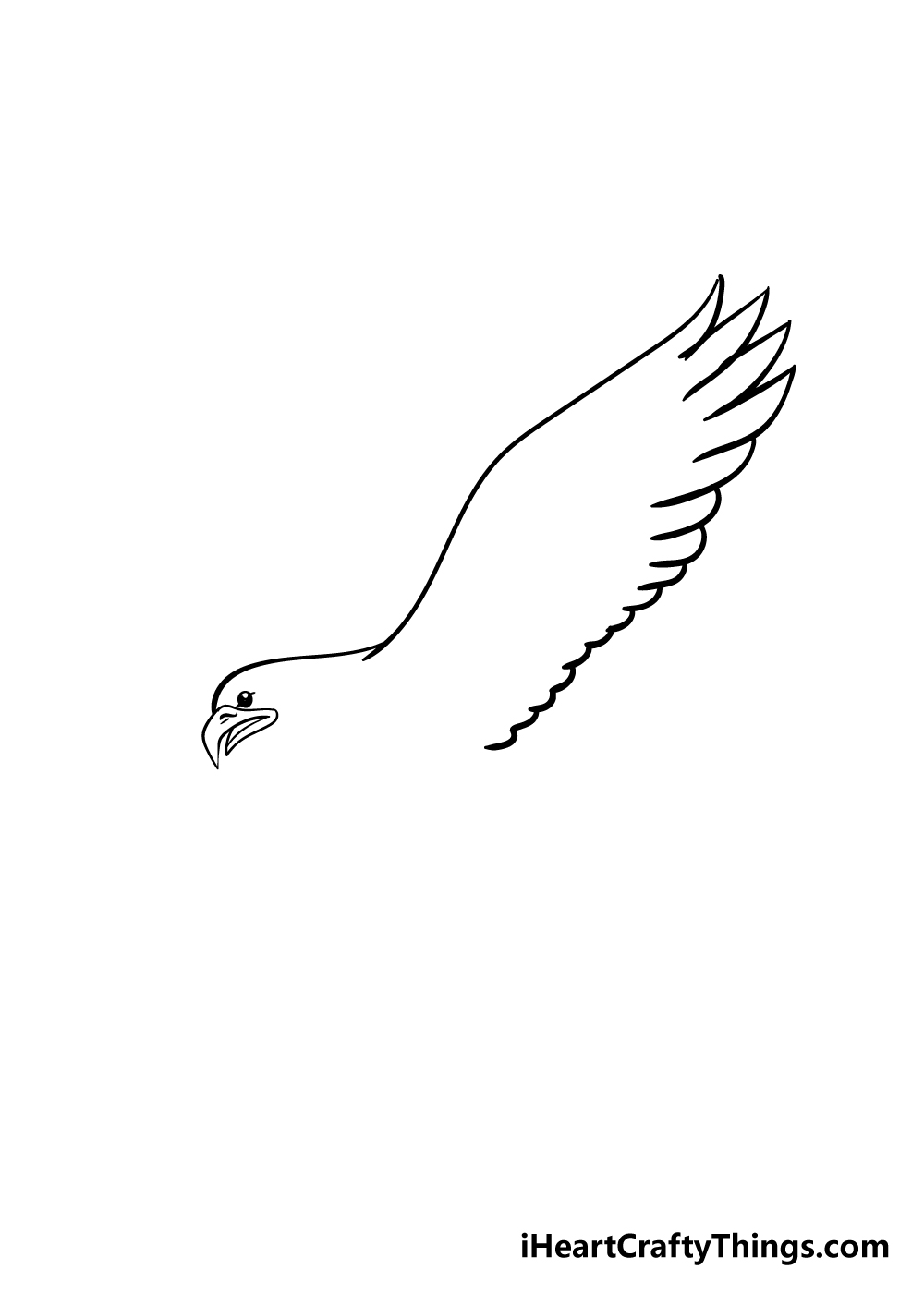 eagle drawing step 2