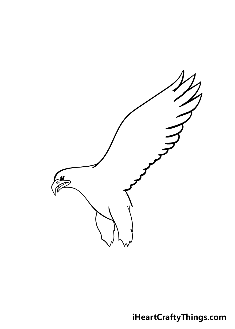 eagle drawing step 3