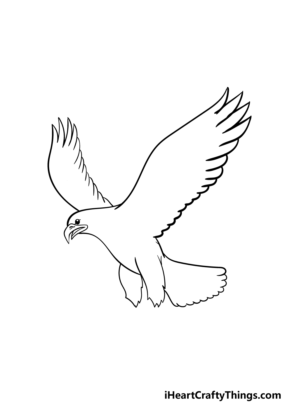 eagle drawing step 4