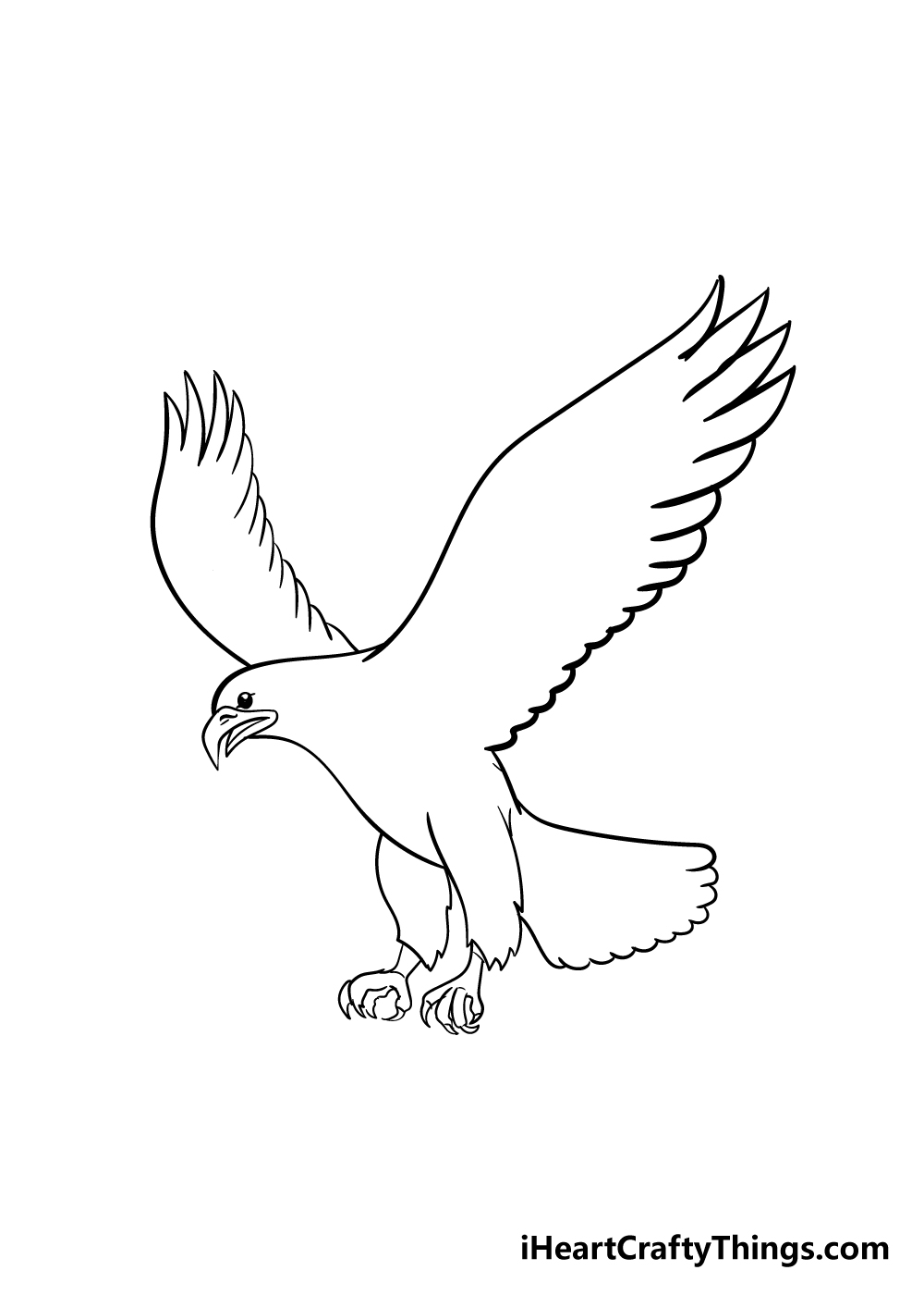 eagle drawing step 5