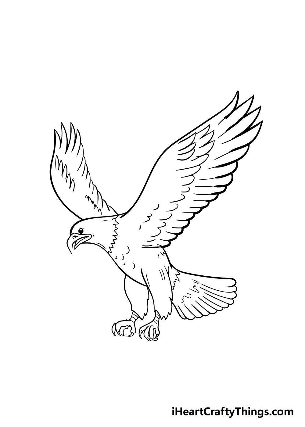 eagle drawing step 6