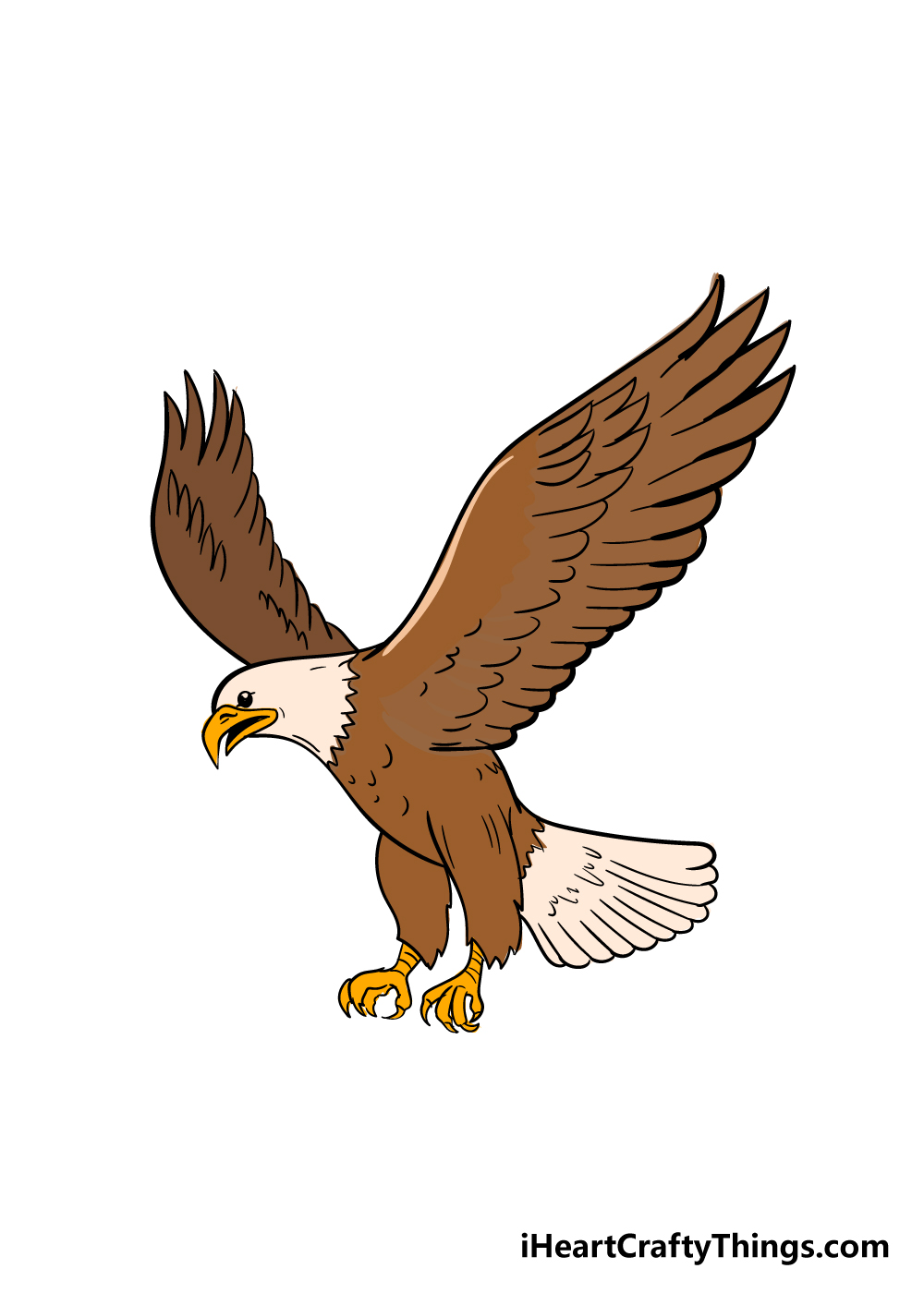 eagle drawing step 7