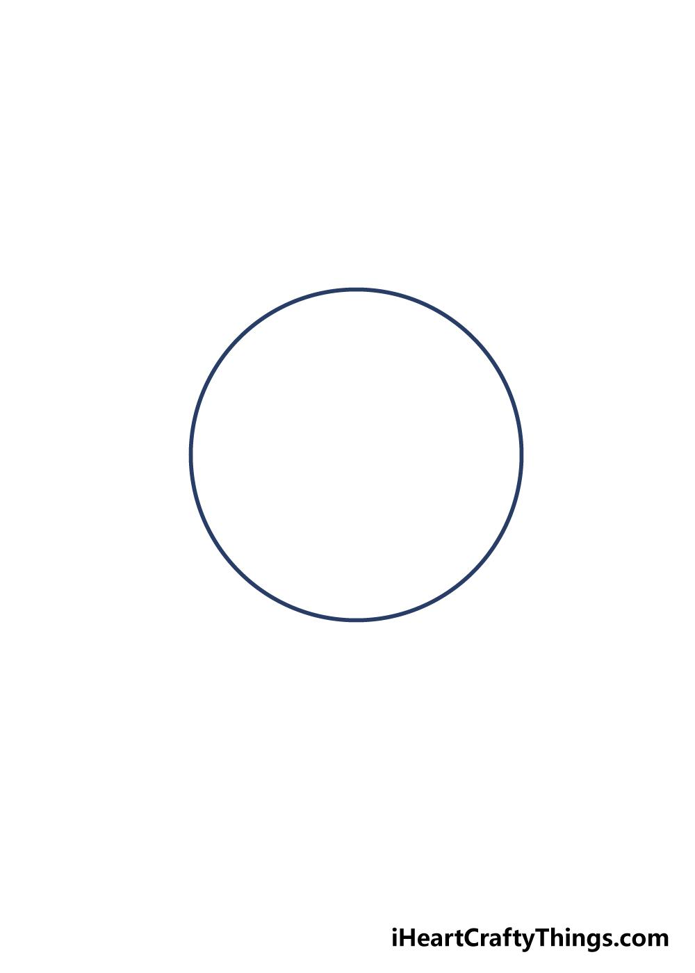 drawing moon step 1