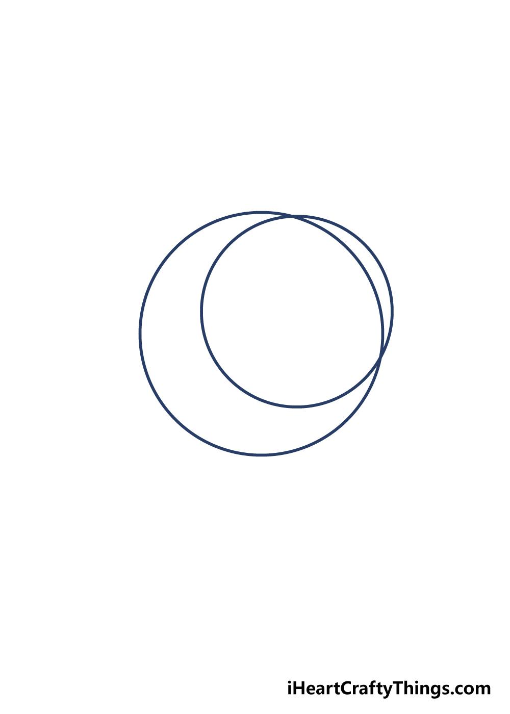 drawing moon step 2
