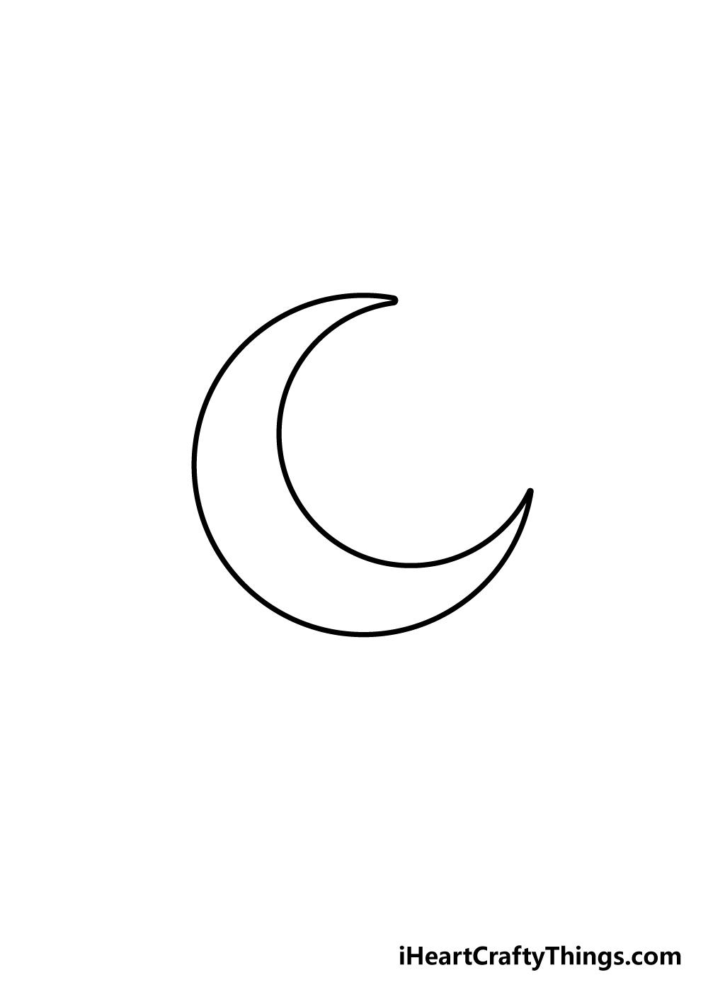 drawing moon step 3