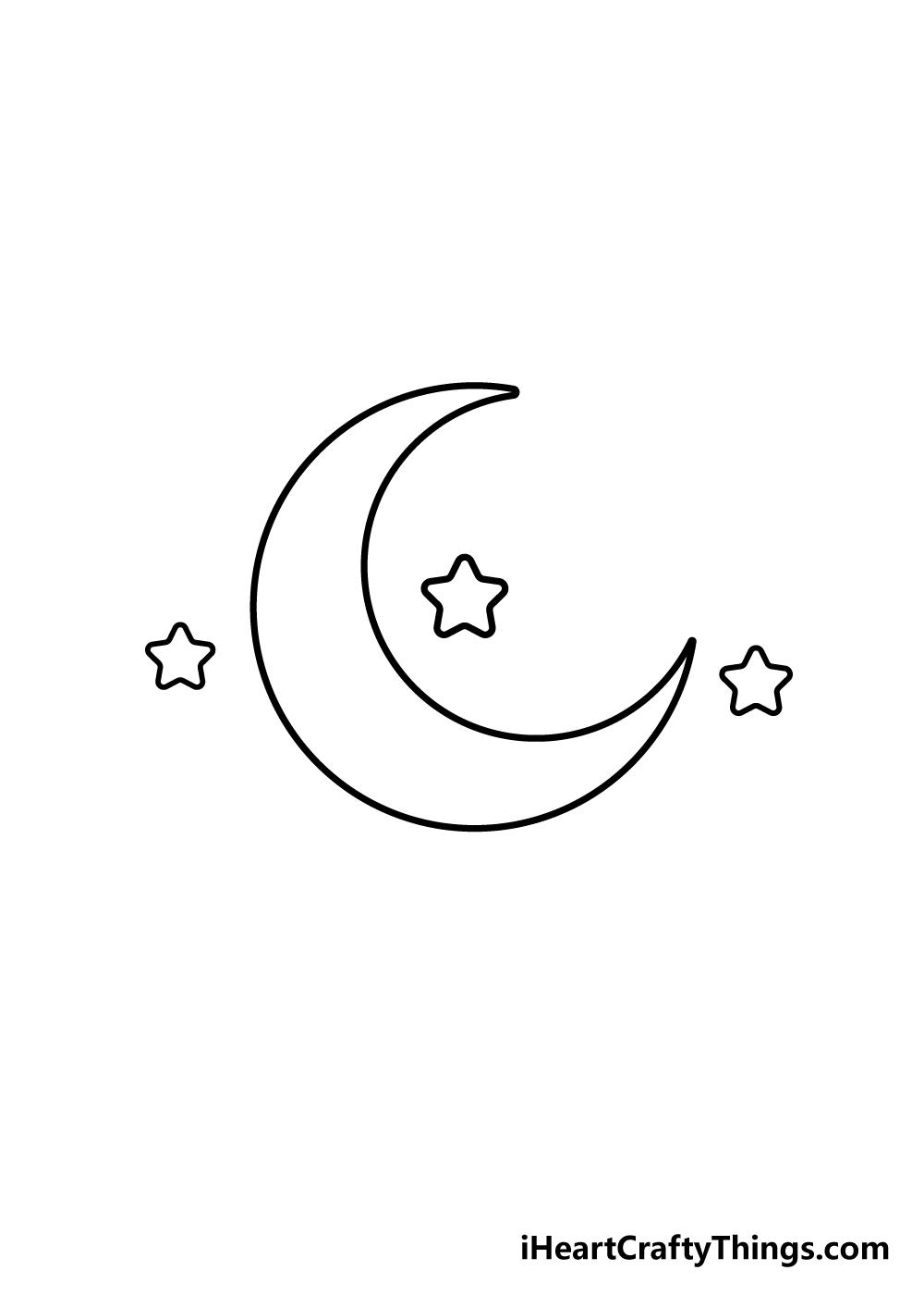 drawing moon step 4