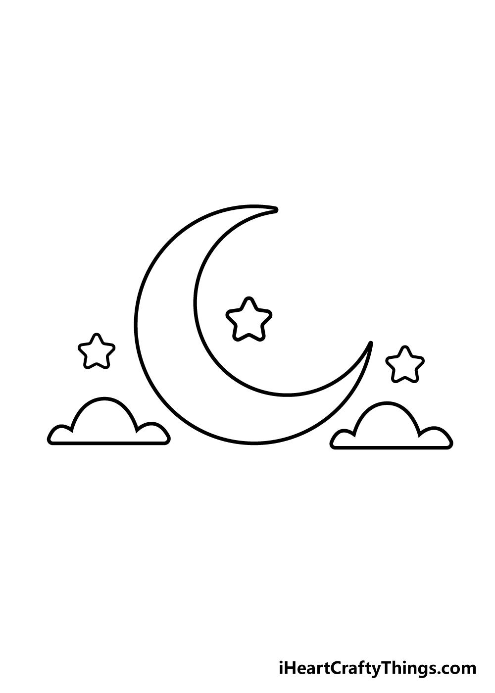 drawing moon step 5