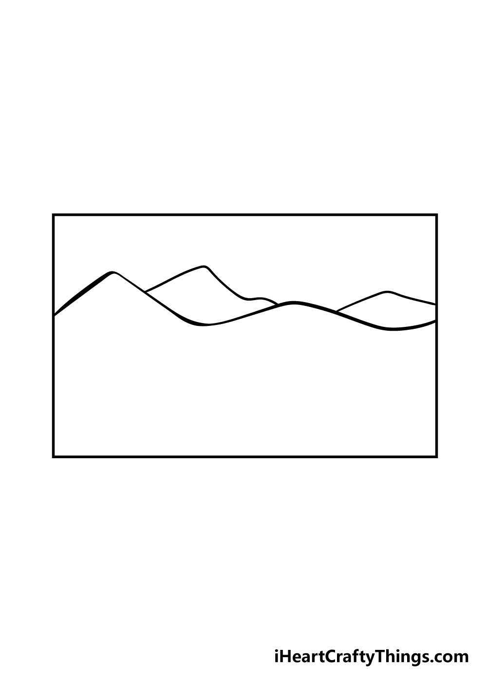 mountain drawing step 2