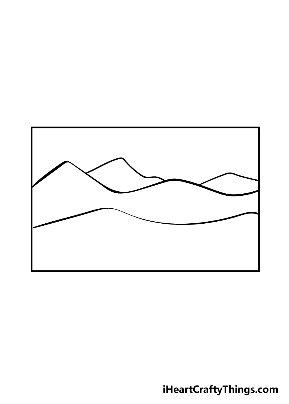 mountain drawing step 3