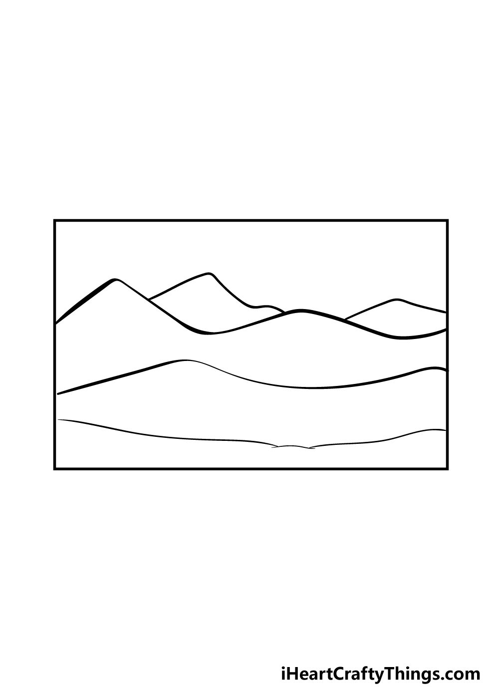 mountain drawing step 4