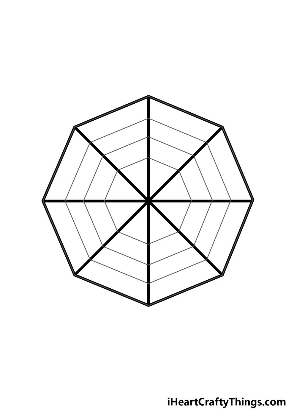 spiderweb drawing step 3