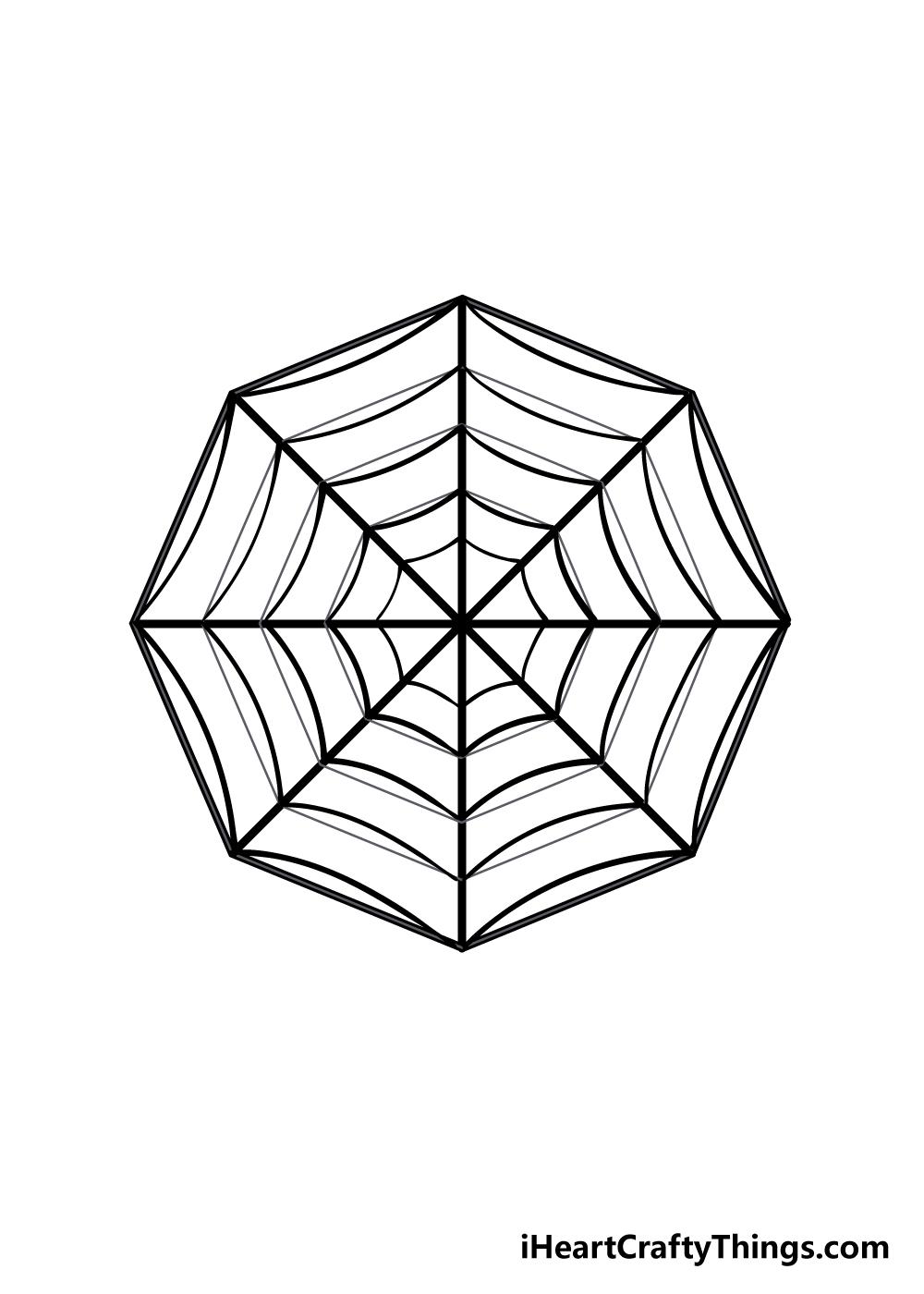 spiderweb drawing step 4
