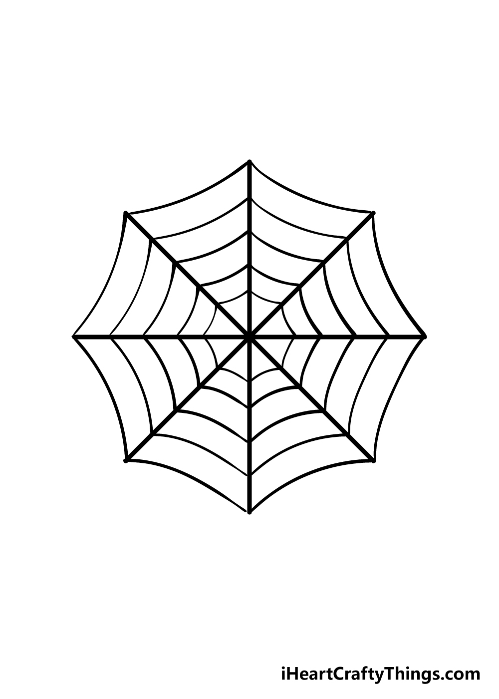 spiderweb drawing step 5
