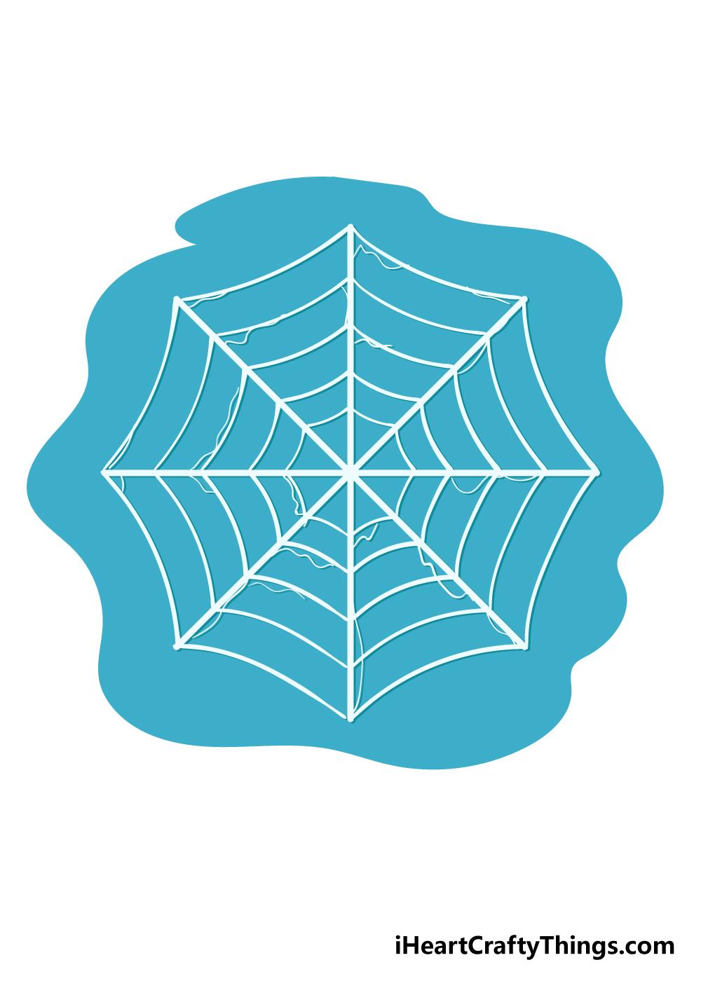 spiderweb drawing step 6