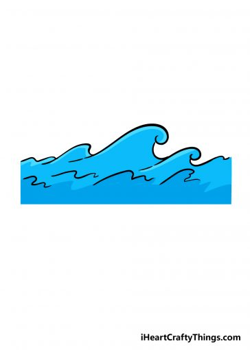 how to draw a wave image