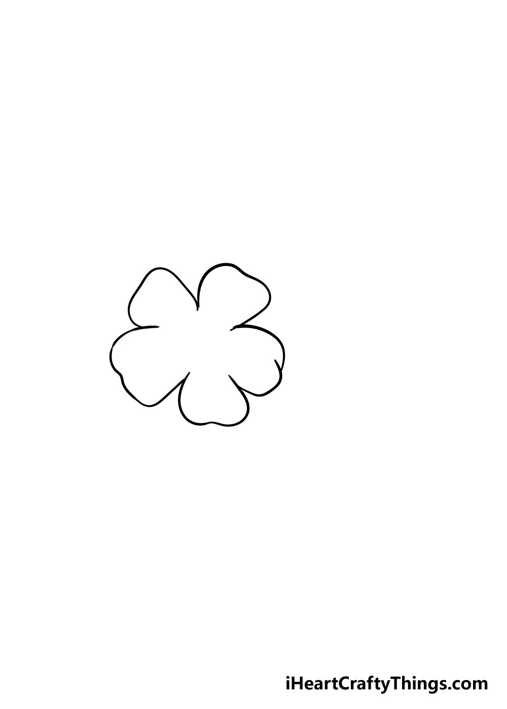cherry blossoms drawing step 1