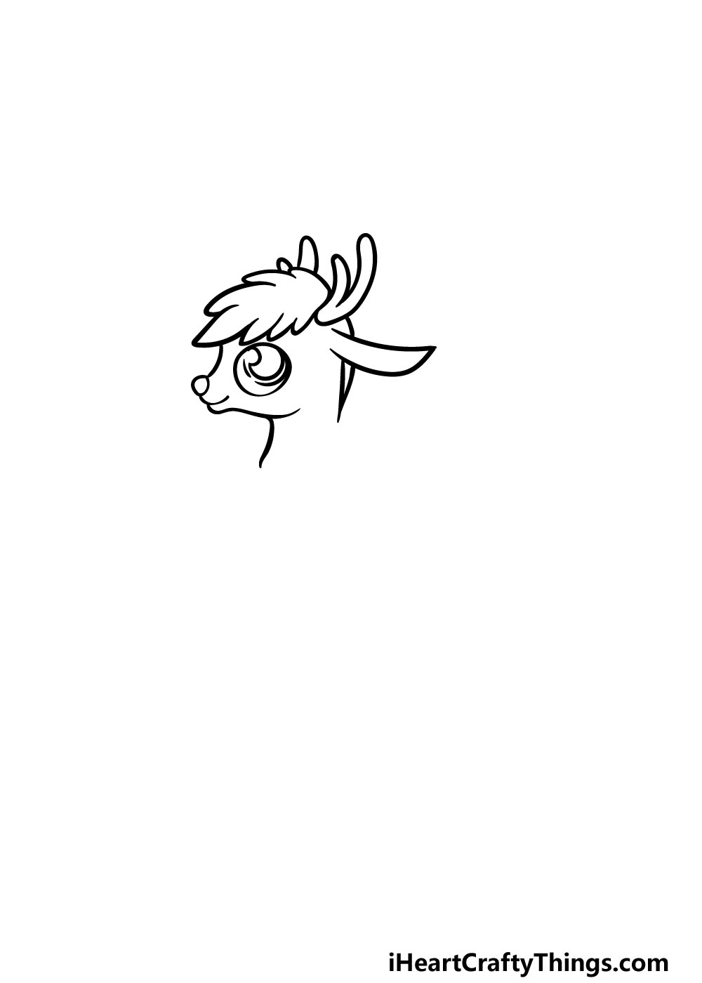 drawing Rudolph step 1