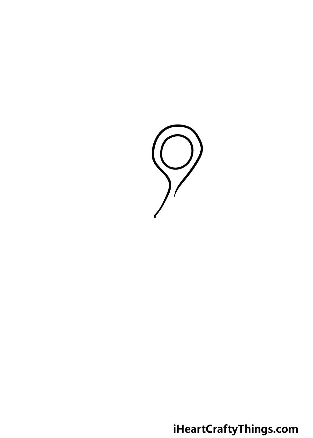 drawing scissors step 1