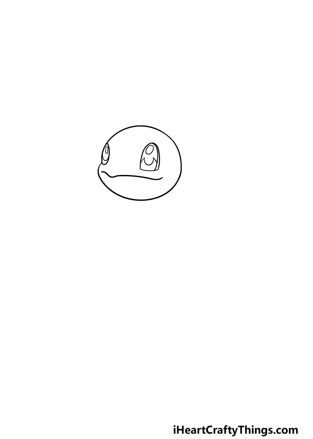 drawing squirtle step 1