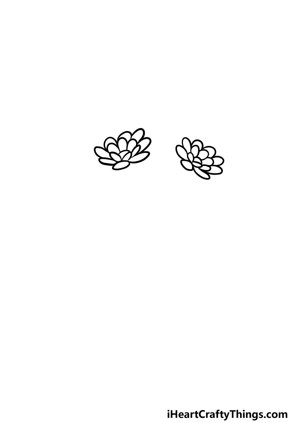 drawing a bouquet of flowers step 1
