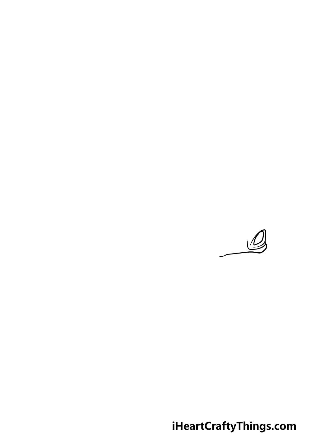 drawing a  ferrari step 1