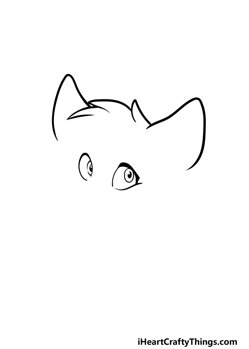 drawing a furry head step 1