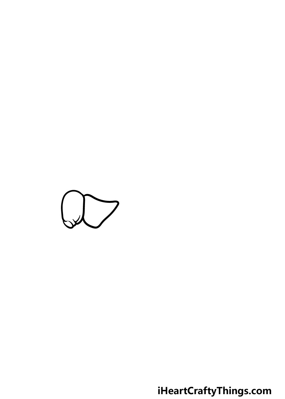 drawing a grasshopper step 1