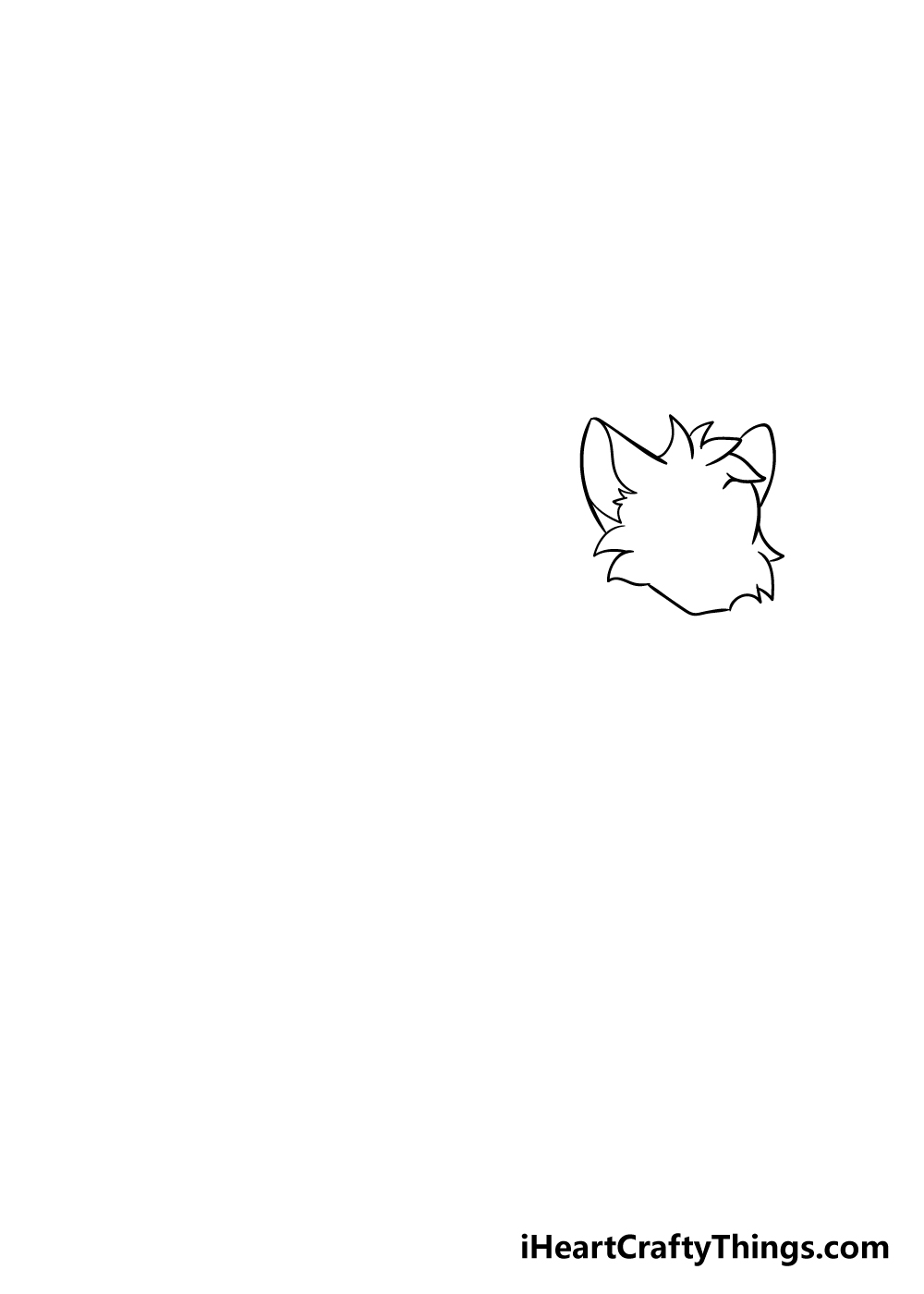 warrior cats drawing step 1