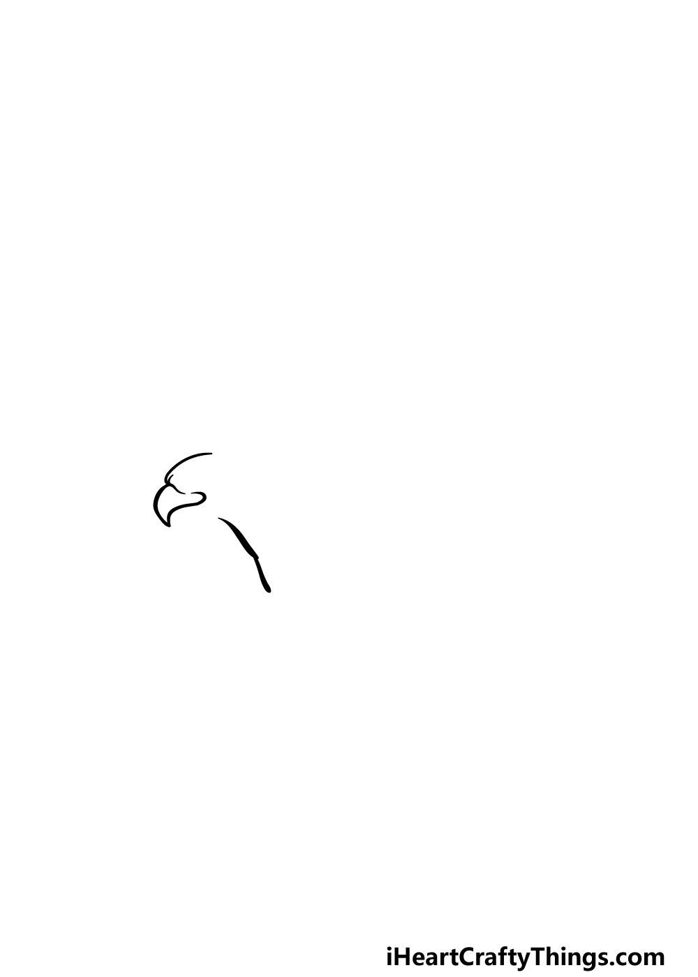 bald eagle drawing step 1