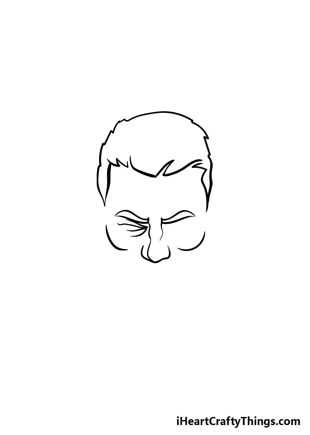 drawing a beard step 1