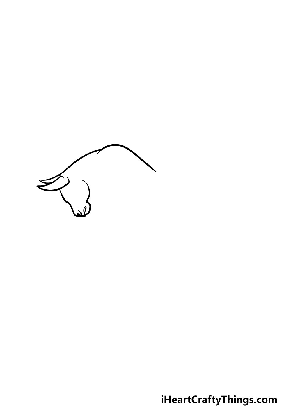 drawing a bull step 1