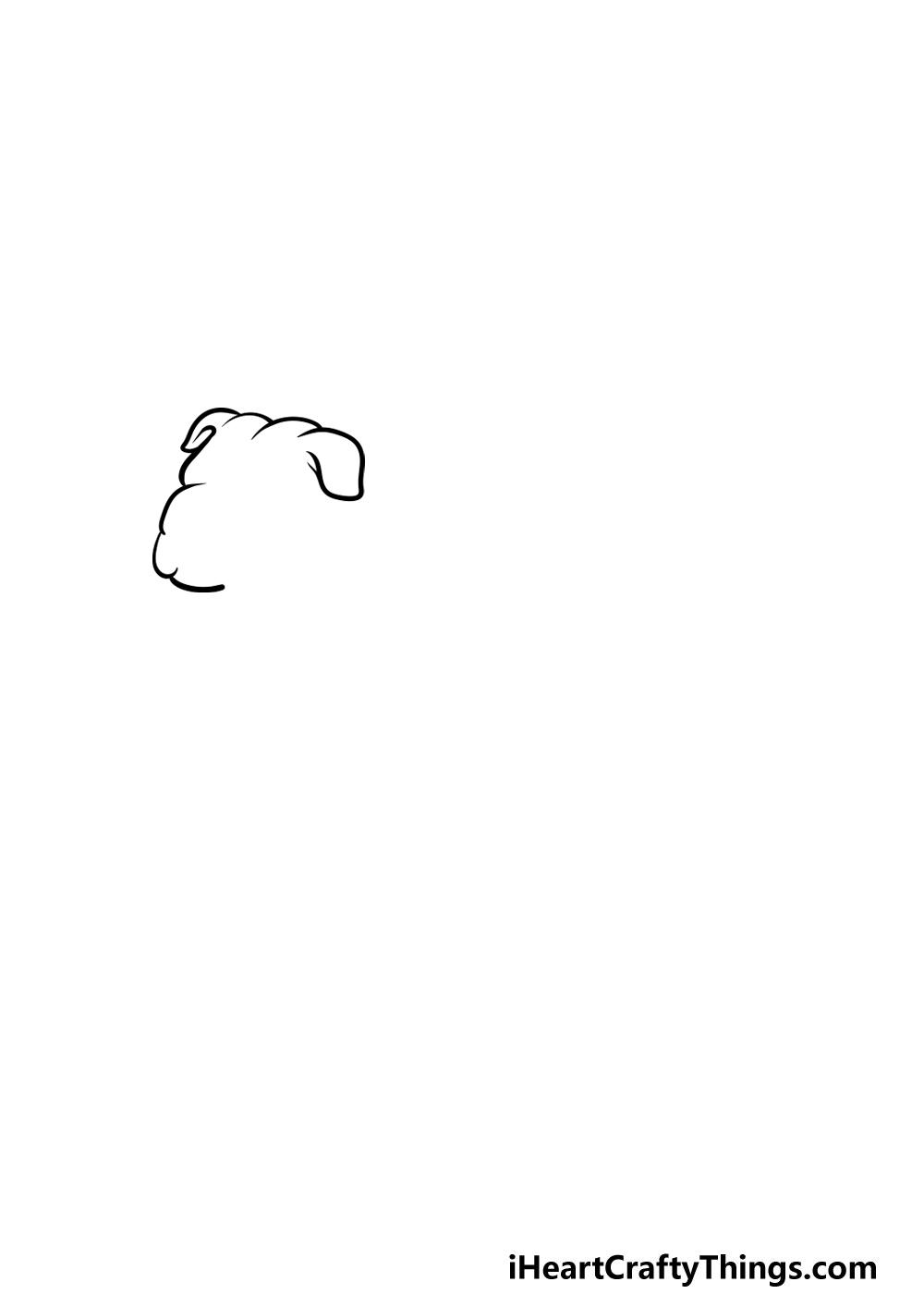 drawing bulldog step 1