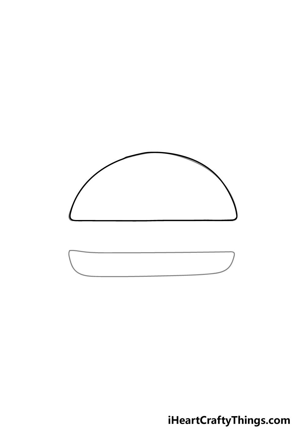 drawing a bun step 1