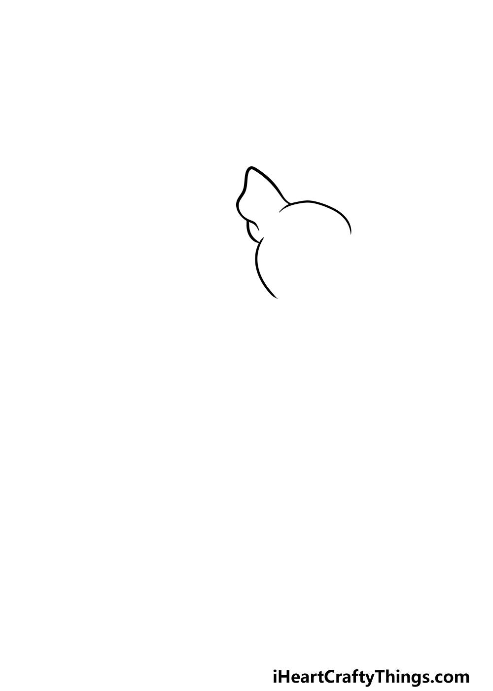 drawing a chihuahua step 1