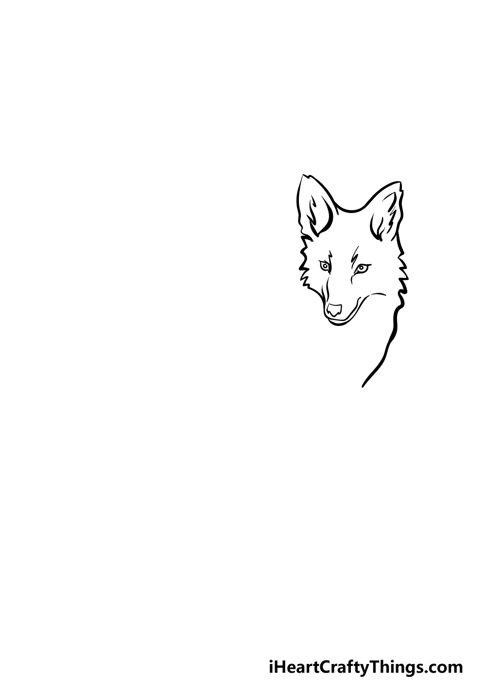 drawing a coyote step 1