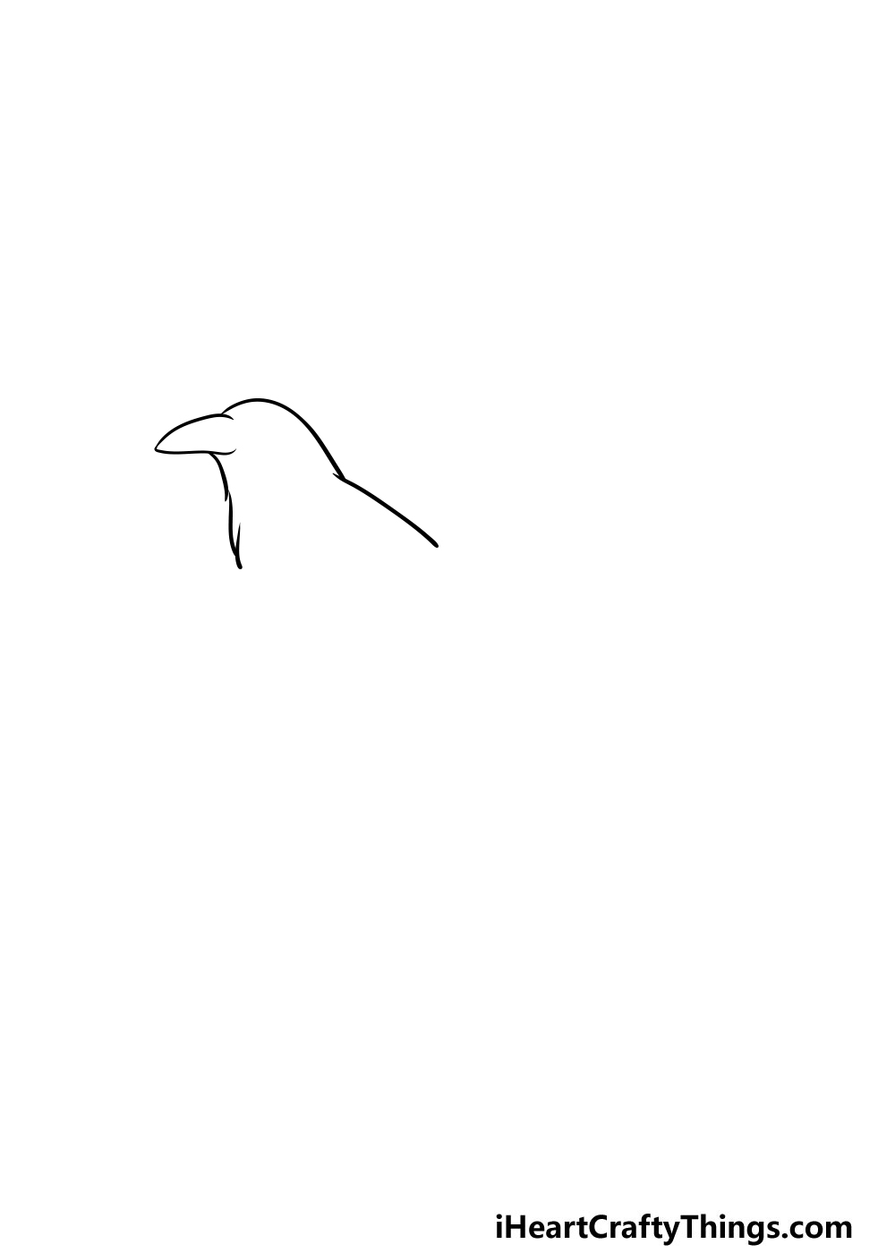 drawing a crow step 1