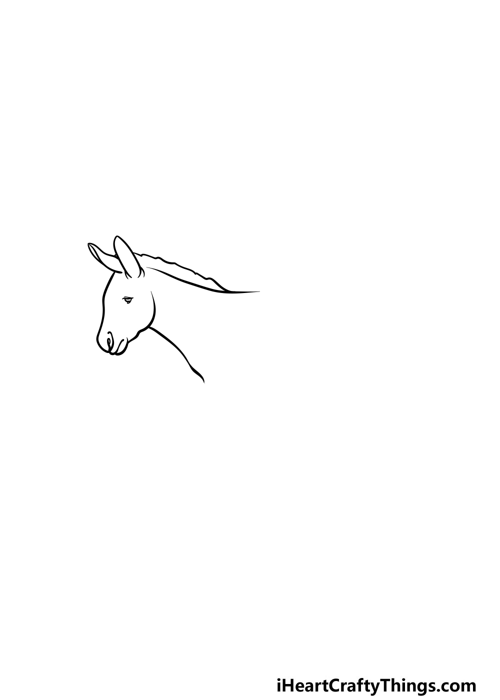 drawing a donkey step 1