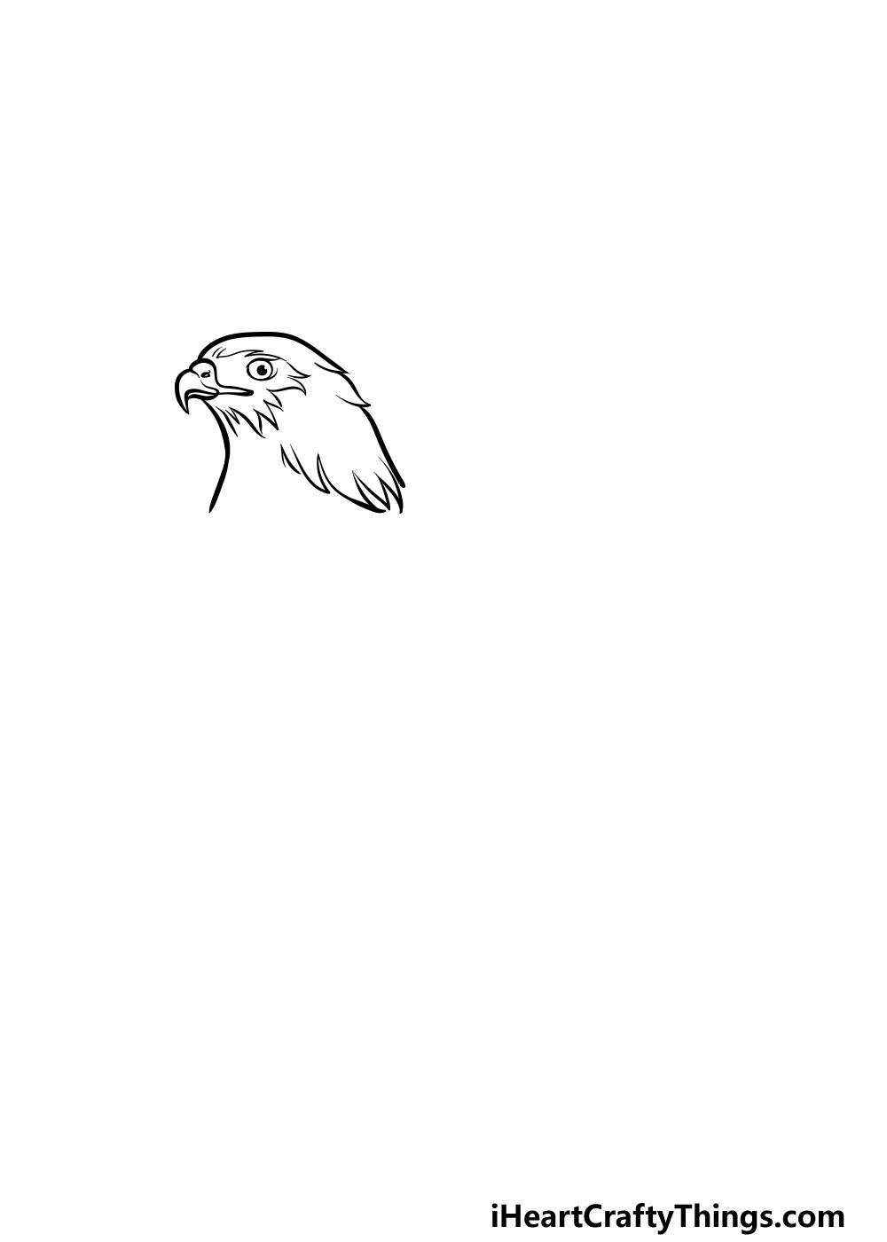 dibujando un halcón paso 1