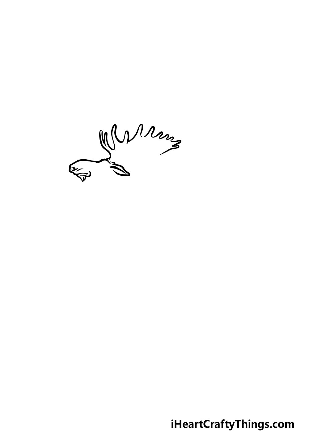 drawing a moose step 1