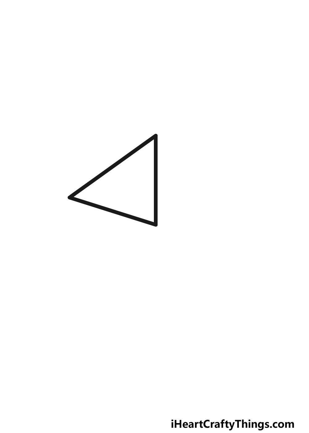 drawing a pentagon step 1
