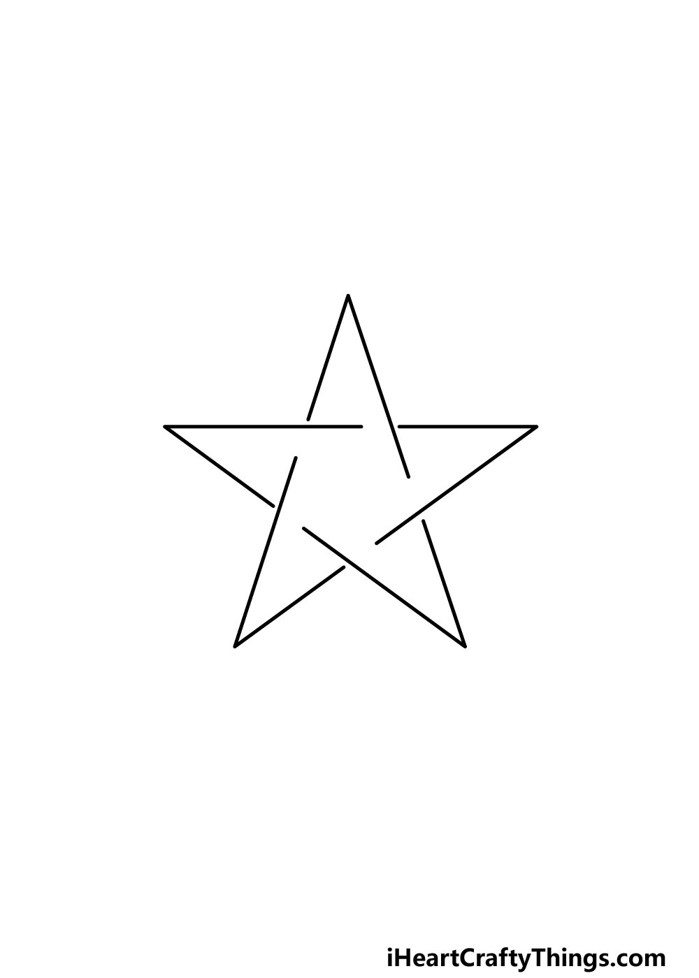 drawing a pentagram step 1