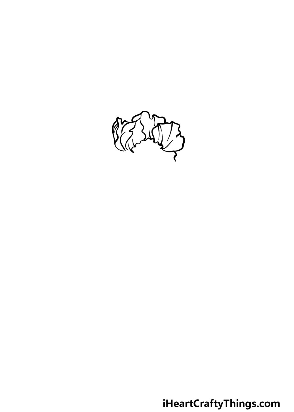 drawing peony step 1