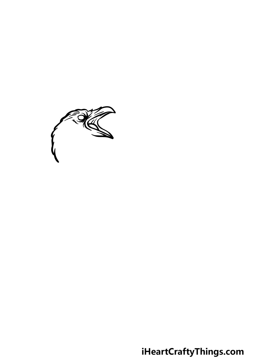 drawing a raven step 1