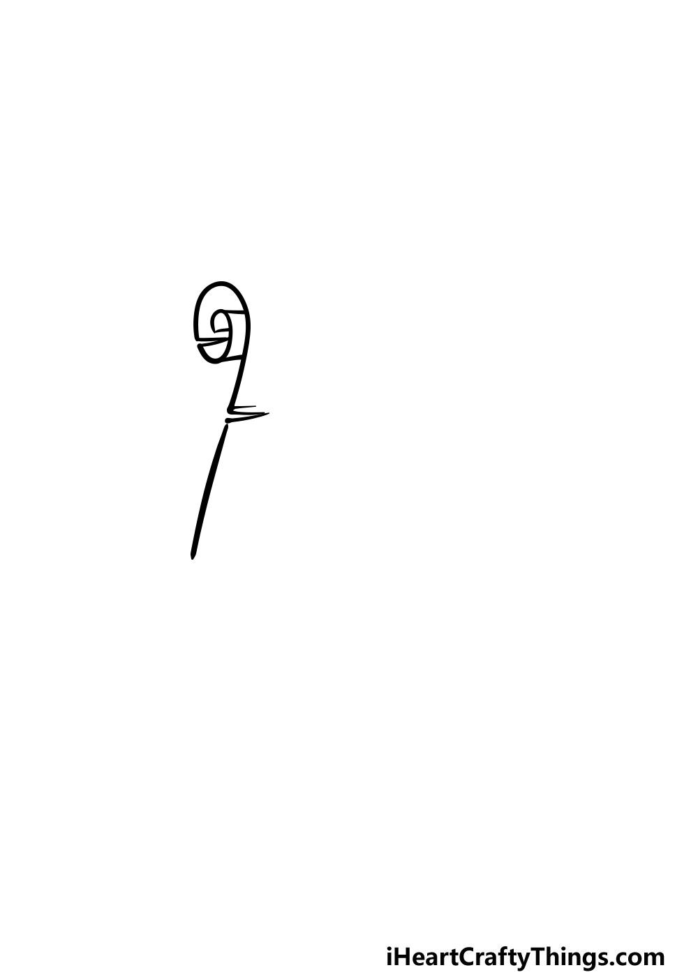 drawing a scroll step 1