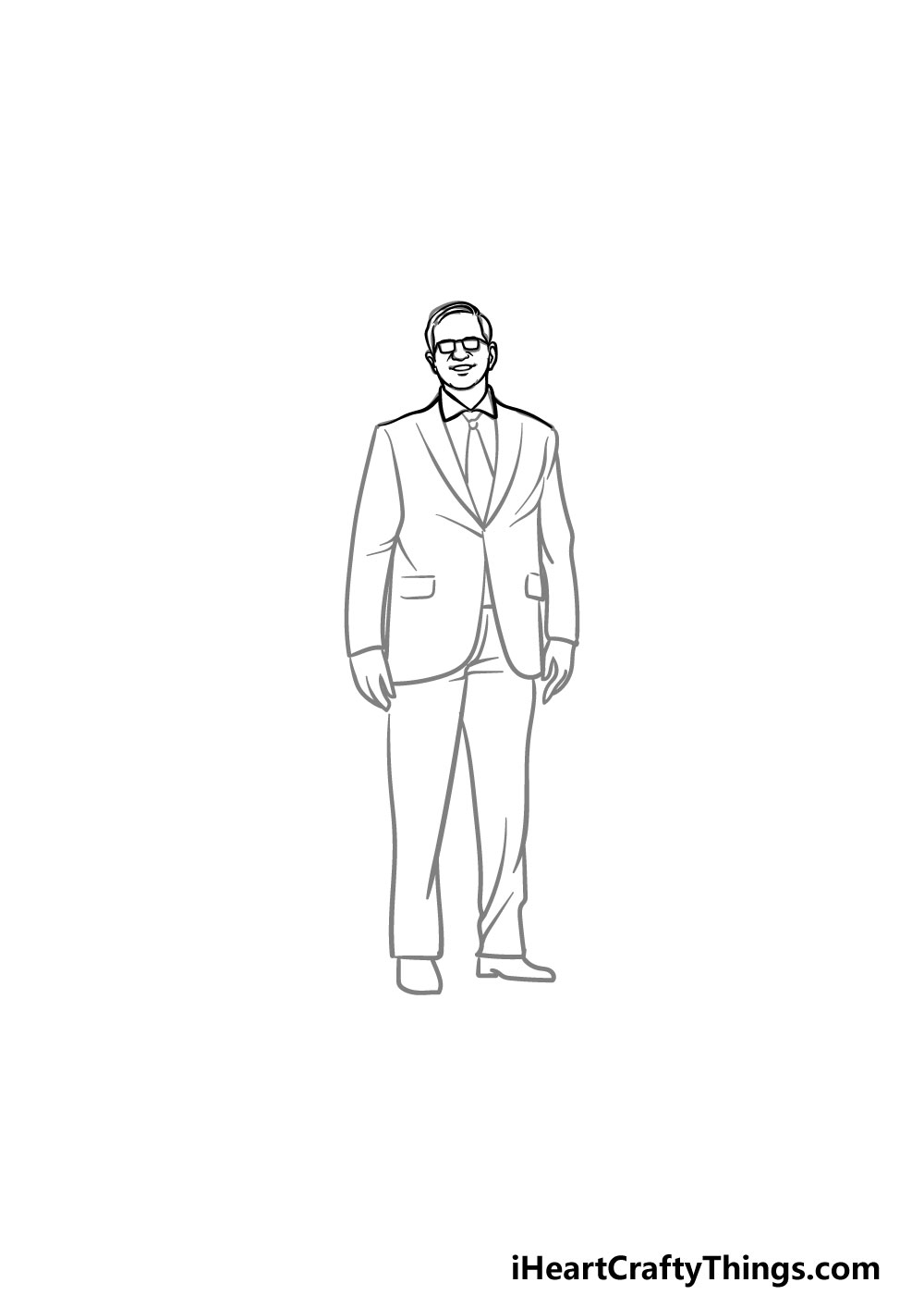 drawing a suit step 1