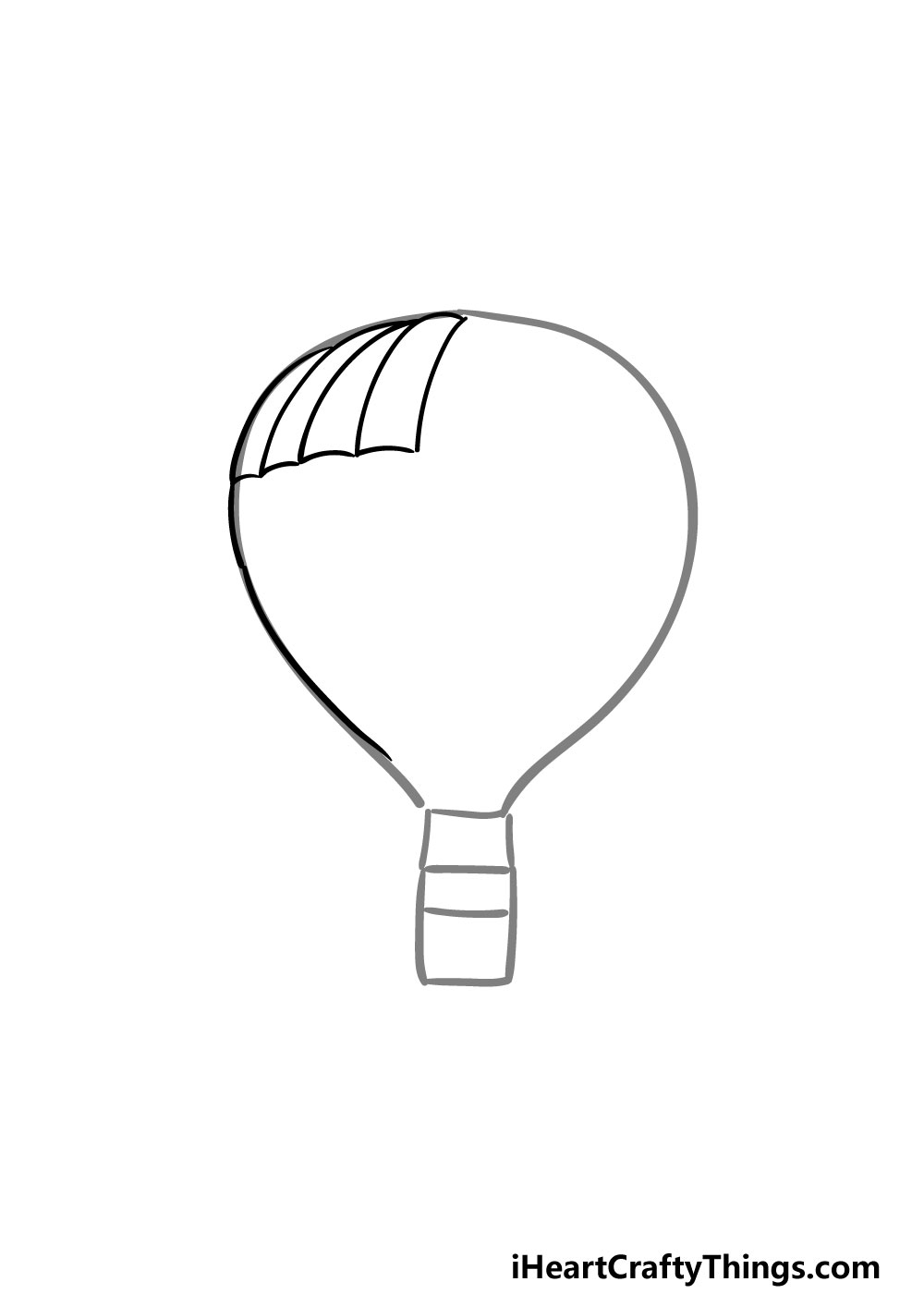 drawing a hot air balloon step 1