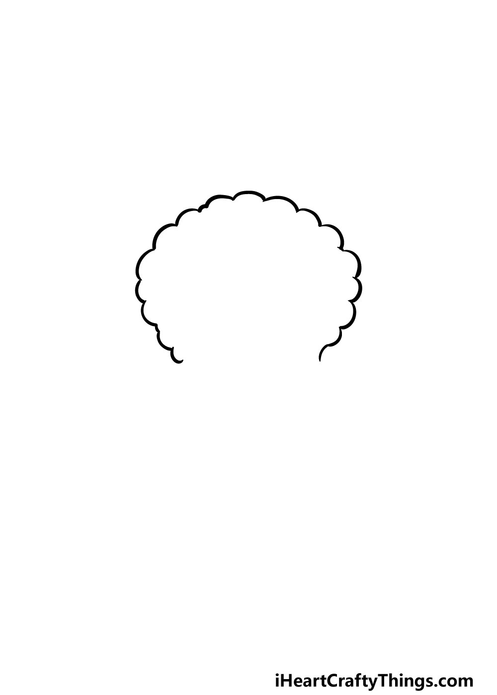 drawing curly male hair step 1