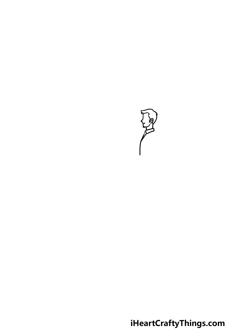 drawing a man with a dog step 1
