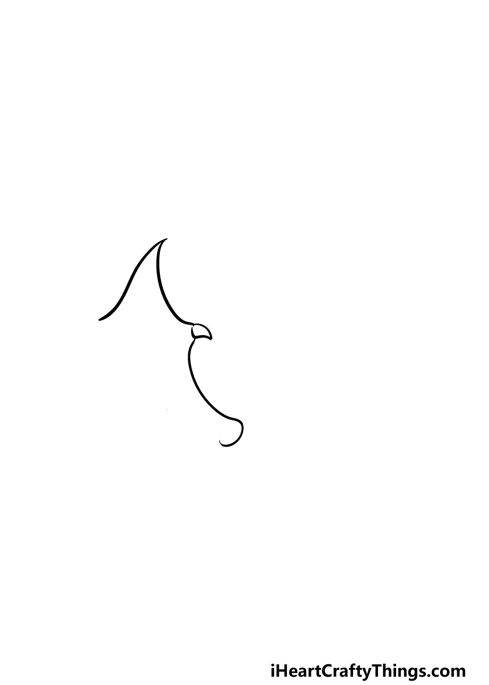 drawing dragon wings step 1