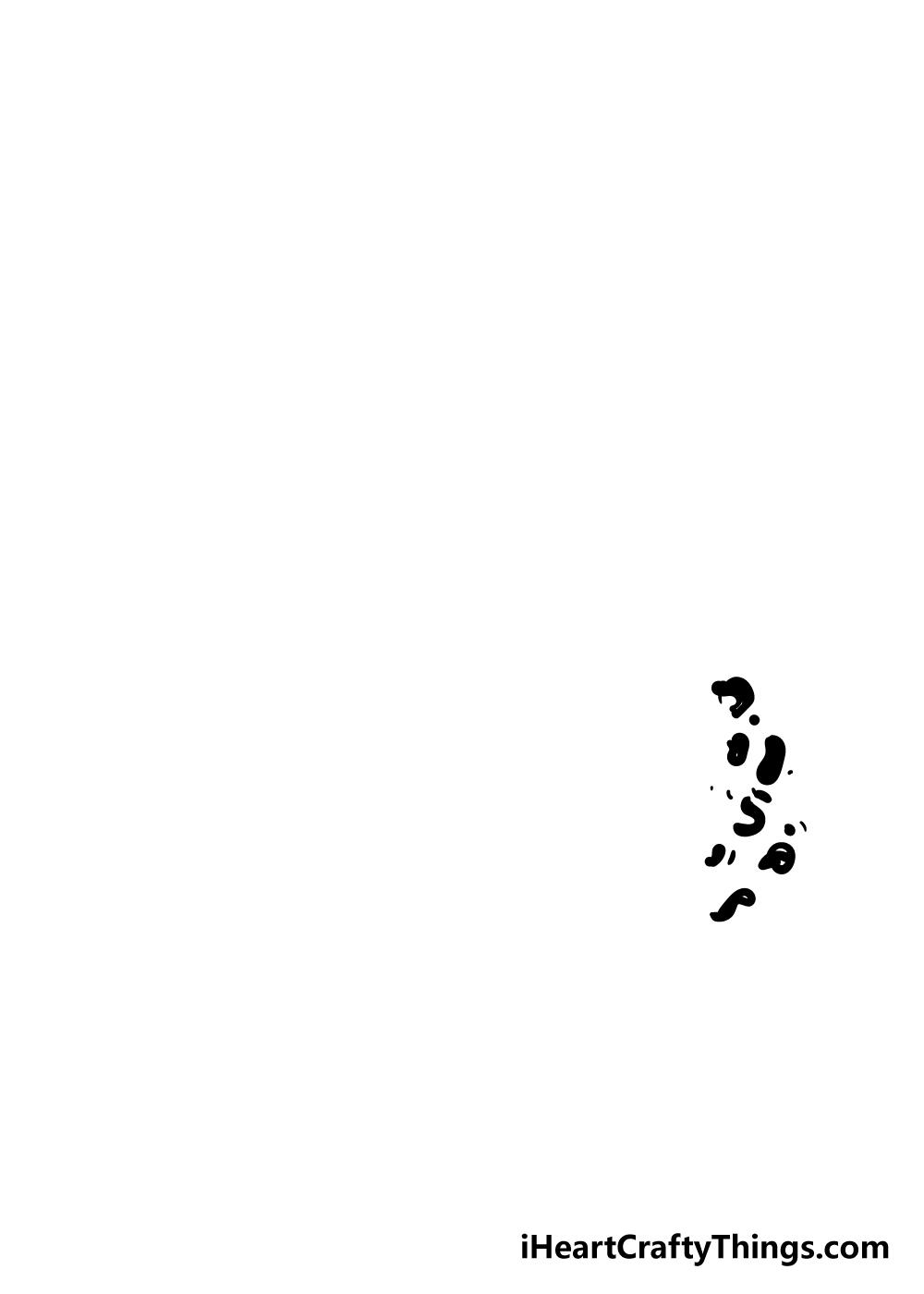 cheetah print drawing step 1